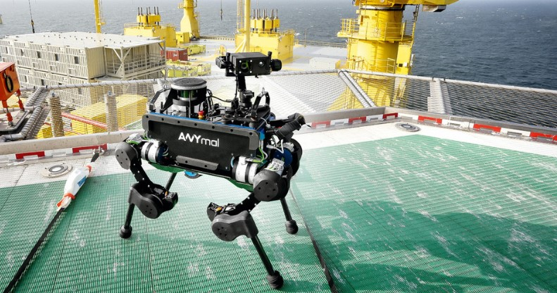 ANYmal. A dog-like robot on an unmanned oil rig